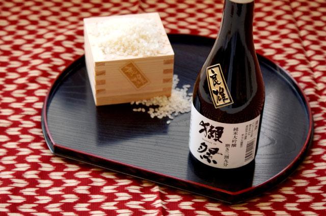 旭酒造 純米大吟醸 獺祭 磨き三割九分 300ml & 1合枡 セット