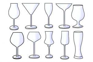 いろいろな種類のグラス