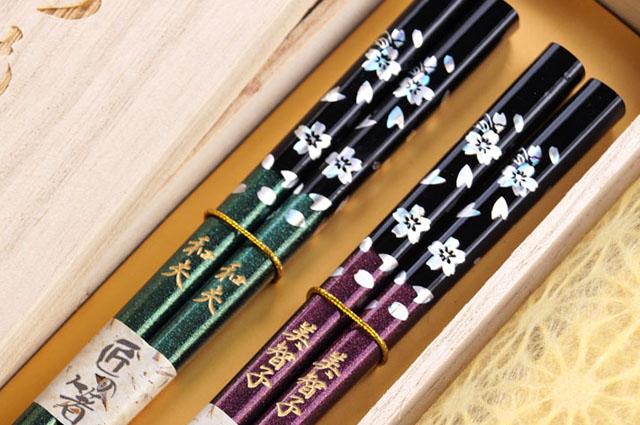 名入れ 銀舞桜箸(ペア2膳セット)