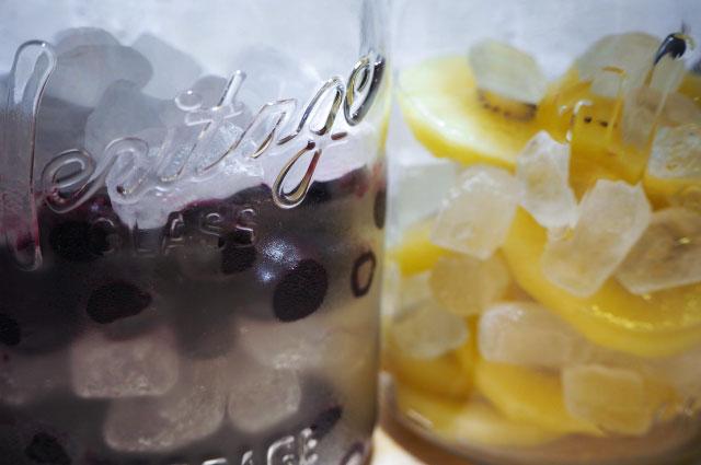 氷砂糖と果物