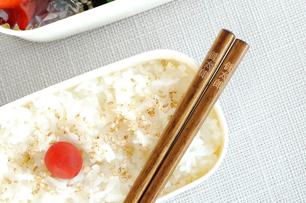 お弁当にぴったりな木製名入れ箸