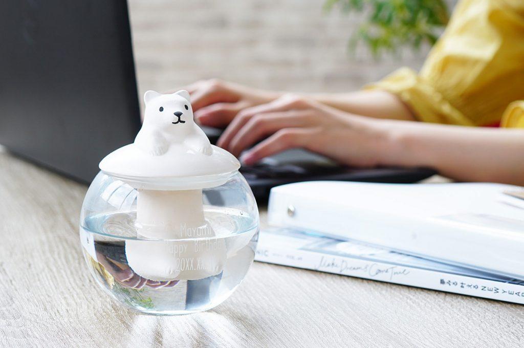 かわいくしっかり風邪予防 ドーム型陶器加湿器アニマル