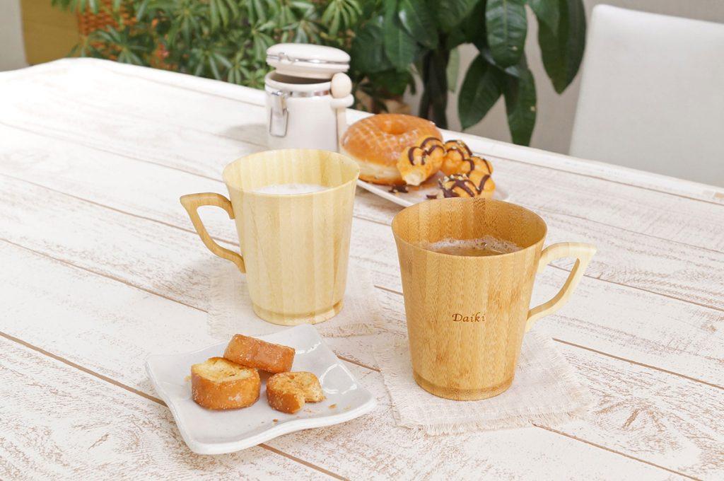 名入れ天然竹製ペアマグカップ
