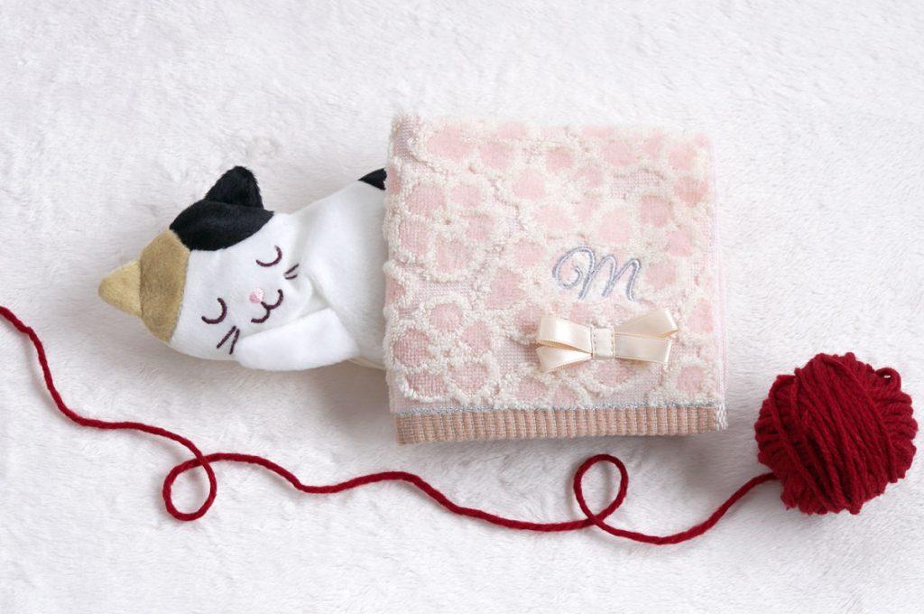 猫のホット&アイスアイピローとハンカチセット